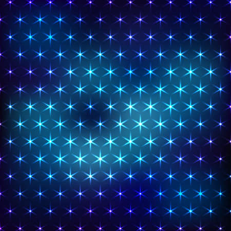 to shine: Abstract dark blue neon background with shine lights Illustration