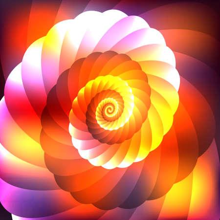 bright: Bright abstract  cosmic shell Illustration