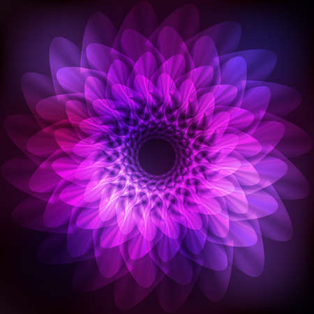 cosmo: Cosmic pink background with abstract flower