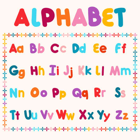 bold: Hand-drawn  illustration of alphabet letters. Bold font