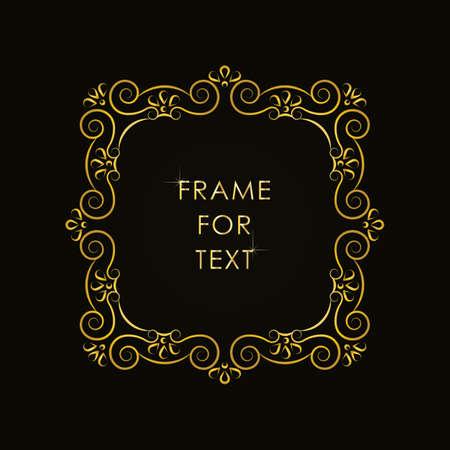 trendy: Elegant frame in trendy outline style