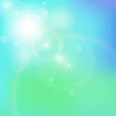 Weiche farbige Sommer oder Frühling Himmel abstrakten Hintergrund Illustration