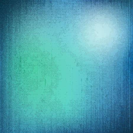 retro grunge: Blurred blue background with grunge texture Illustration