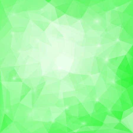 triangular banner: Abstract soft green colored polygonal vector triangular geometric background for use in design for card; invitation; poster; banner; placard or billboard cover