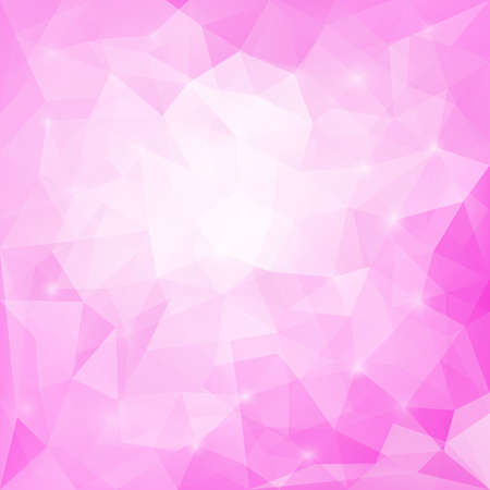 triangular banner: Abstract soft pink colored polygonal vector triangular geometric background for use in design for card, invitation, poster, banner, placard or billboard cover Illustration