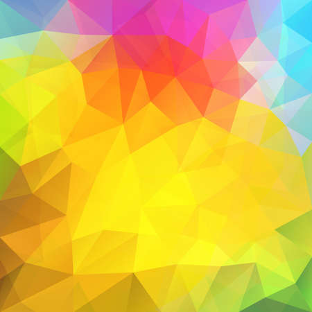 Rainbow colors triangular vector pattern