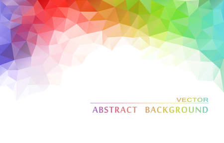rainbow colours: Abstract  geometric colorful background