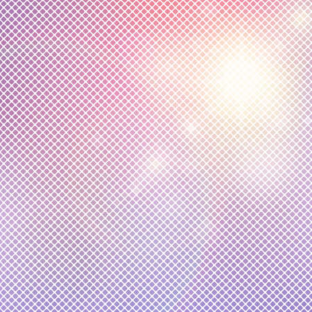 Licht roze achtergrond van de pleinen met afgeronde hoeken. Vage gradiënt mozaïek patroon
