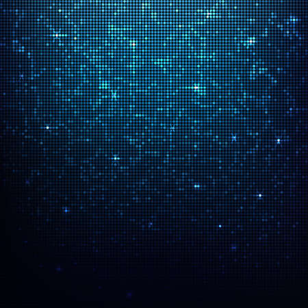 Glowing vector disco  background. Mosaic with light reflections. Illustration