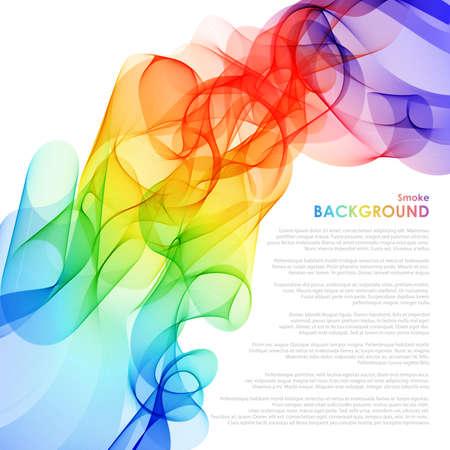 Fondo colorido abstracto con la onda, ilustración vectorial