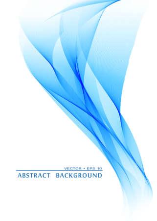 Abstrakt Blaue Welle Hintergrund Illustration