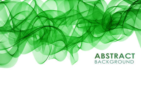 green smoke: Vector illustration Abstract colorful background with green smoke wave