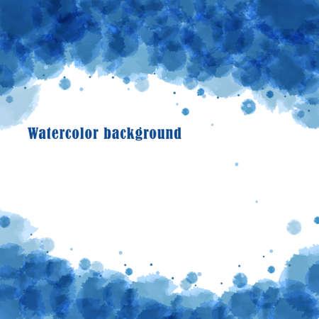 imitation: Vector background. Blue watercolor imitation Illustration