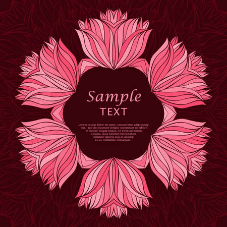 a place for the text: Floral background with a place for text