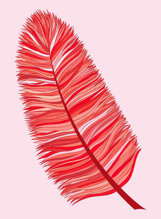 feathery: doodle red feather