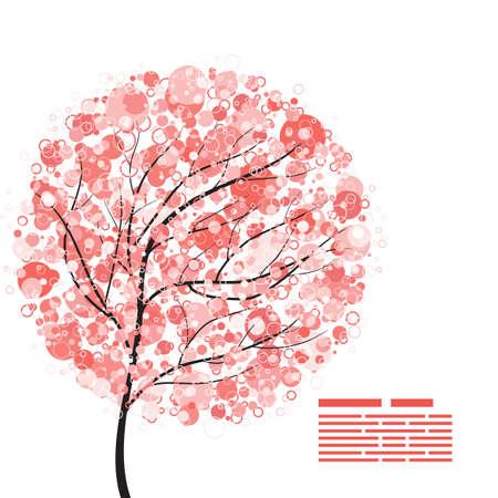 flowering: Abstract flowering tree