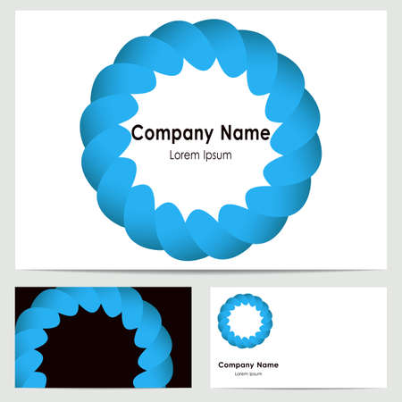 buisiness: buisiness card template with abstract blue symbol