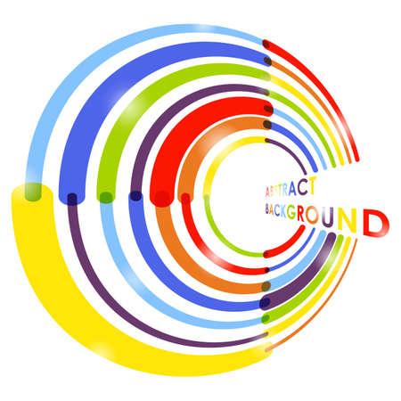 rainbow circle: Abstract rainbow circle background. Vector illustration