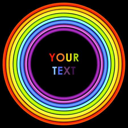 rainbow circle: Abstract rainbow circle frame. Vector illustration Illustration