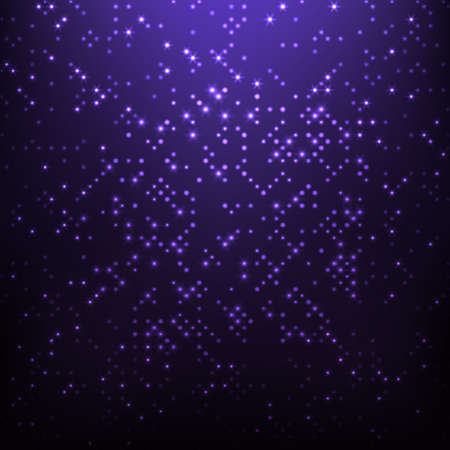 purple stars: Vector abstract background - purple disco lights