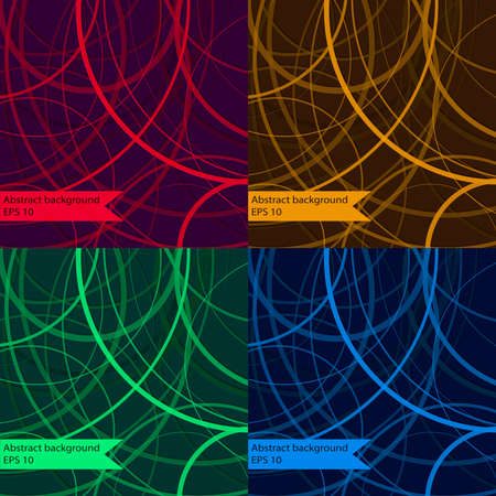 arcs: Set of four abstract geometric background of arcs Illustration