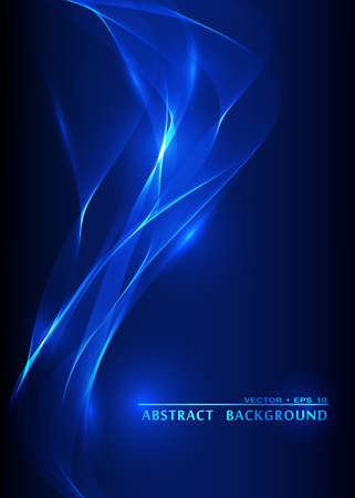 Vector abstract smoke blue background  イラスト・ベクター素材
