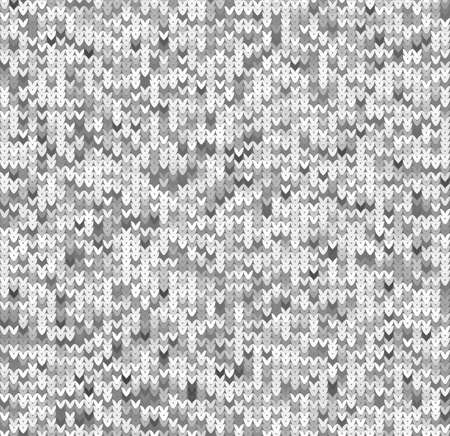 Seamless background with knitted texture in gray colors