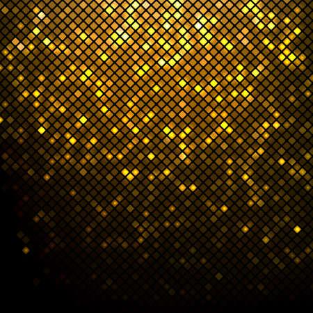 Glanzende gouden disco mozaïekachtergrond Vector Illustratie