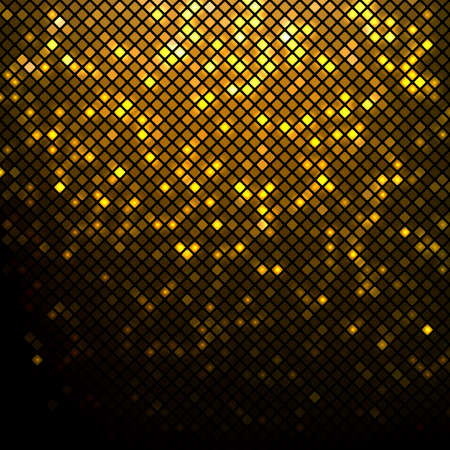 oro: Luminoso fondo de oro de mosaico discoteca Vectores
