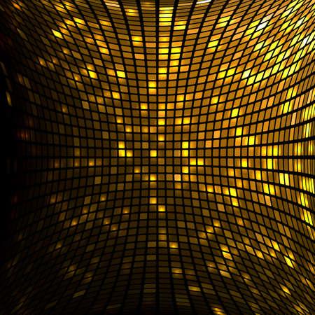 黄金に輝くディスコ モザイクの背景 写真素材 - 49120453