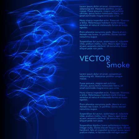 Vector abstract smoke blue background Illustration