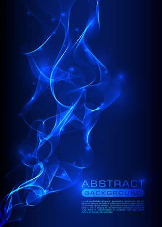 abstract smoke: Vector abstract smoke blue background Illustration