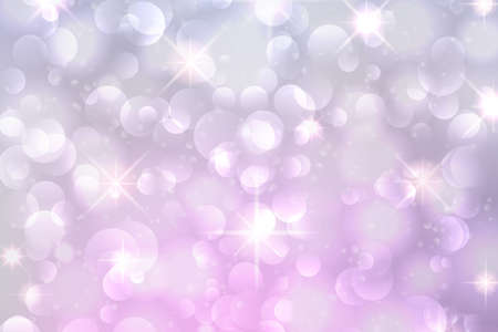 Christmas bokeh background with glowing snowflakes