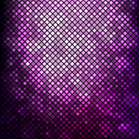Streszczenie mozaiki tle. Jasny fioletowy mozaiki disco Ilustracje wektorowe
