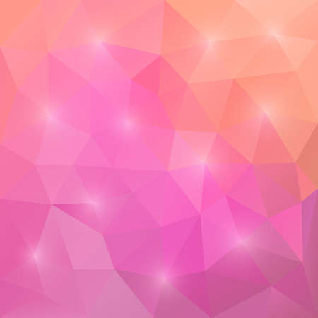 triangular banner: Abstract bright pink colored polygonal vector triangular geometric background for use in design for card, invitation, poster, banner, placard or billboard cover Illustration