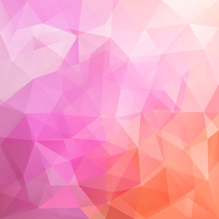 triangular banner: Abstract pink and orange colored polygonal vector triangular geometric background for use in design for card, invitation, poster, banner, placard or billboard cover Illustration