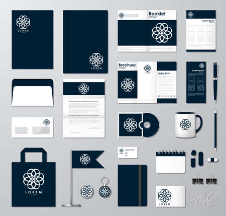 pen and paper: Corporate identity template set.