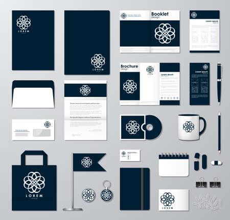 Corporate identity template set.