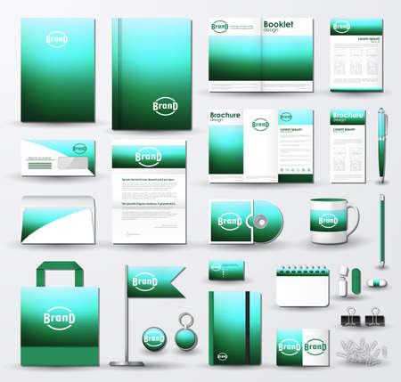 brochure cover design: Corporate identity template set.