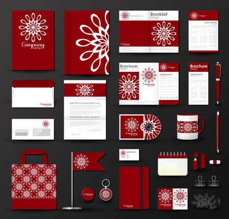 cd cover: Corporate identity template set.