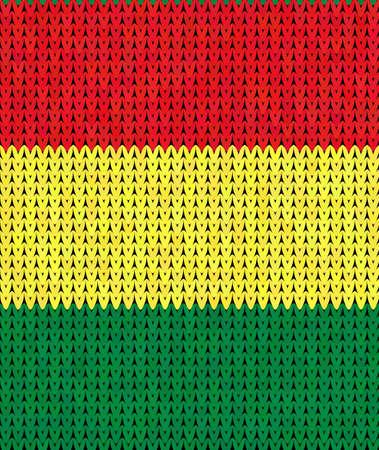 reggae: Seamless aux couleurs du reggae rouge, vert, jaune, texture tricot