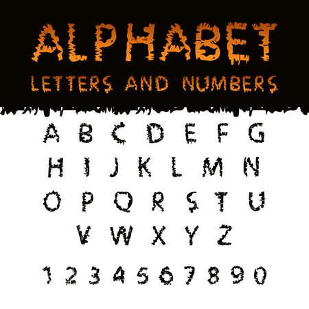represent: Scribble Halloween  Font. Capital letters English alphabet