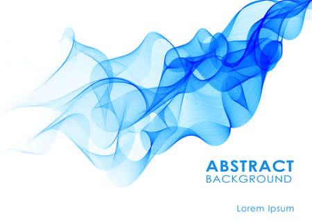 Vector illustration Abstract  background with blue smoke wave Ilustração
