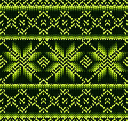 greed: Knitted sweater design. Seamless knitting pattern with greed color