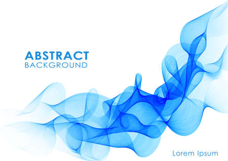 Vector illustration Abstract  background with blue smoke wave 向量圖像