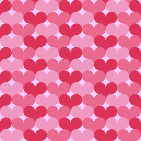 tilling: Vector seamless pattern of Valentines Day with pink heart