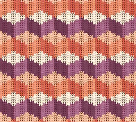 Geometryczny wzór bez szwu tekstury z dzianiny