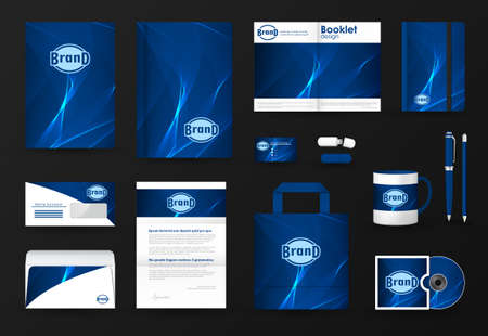 Corporate identity template set.
