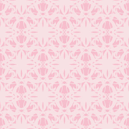 light pink: Ornamental seamless pattern, light pink. Abstract background