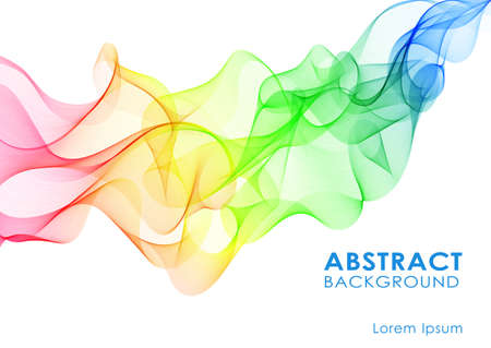 Abstract colorful background with wave, vector illustration